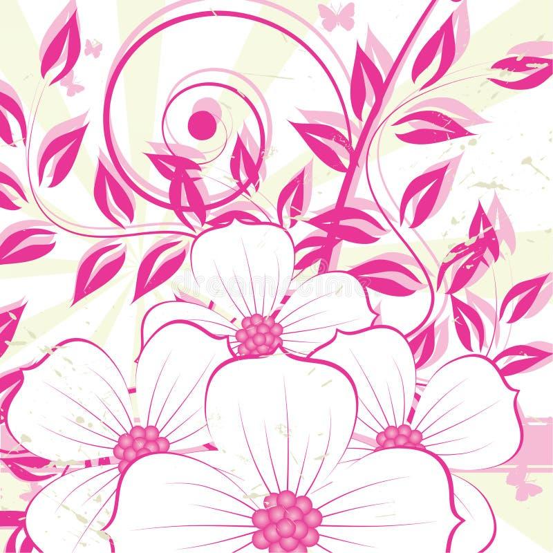 Nice flower grunge background royalty free illustration