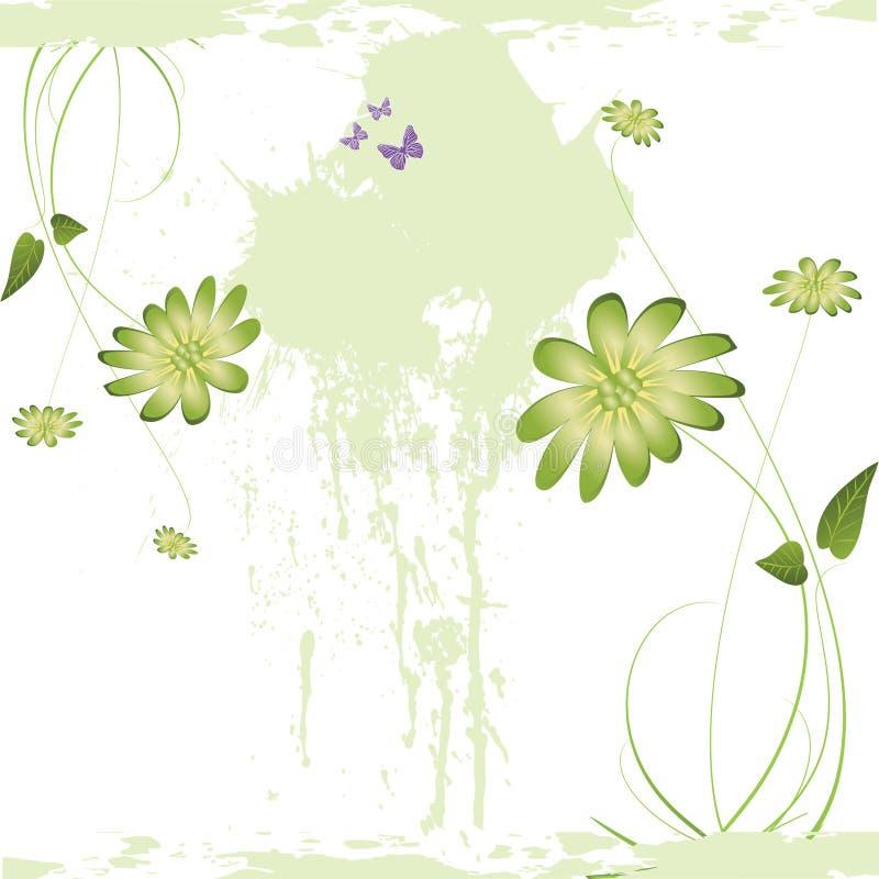 Nice flower grunge background stock illustration