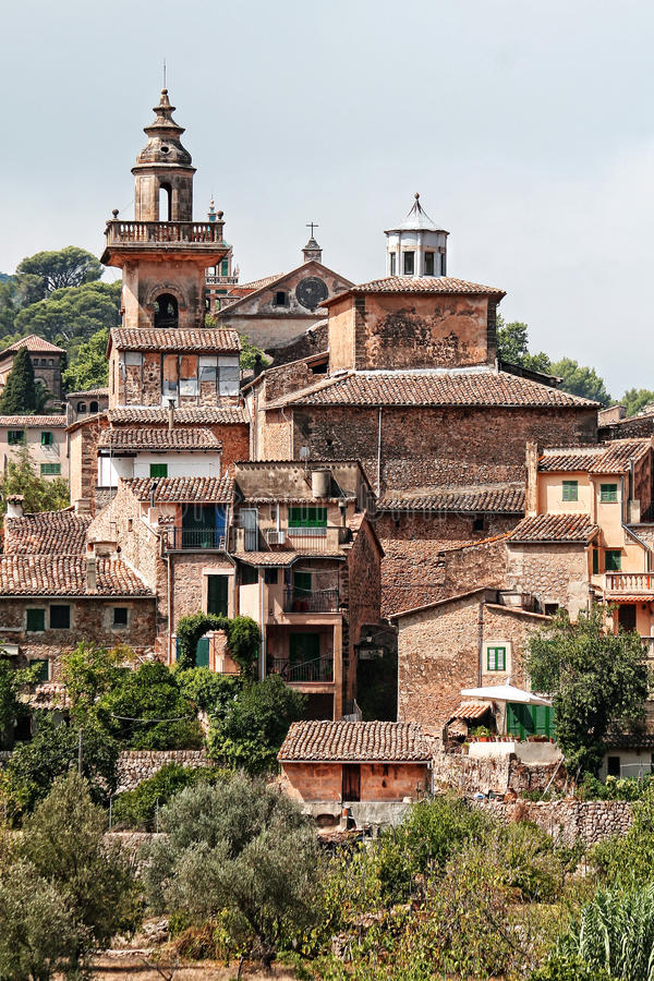 Free Nice Foreshortening Of Valdemossa, Majorca, Spain Stock Photo - 39282660