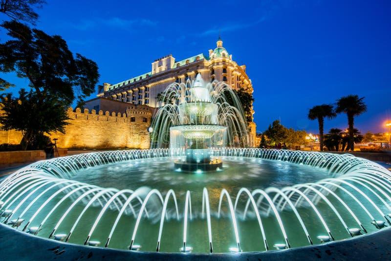 The nice fountain in baku azerbaijan. Nice fountain in Baku Azerbaijan stock photography