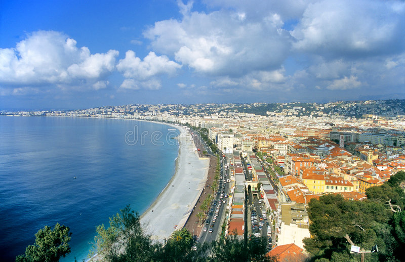 Nice, France. On the mediterranean coast is a vacation destination in the sun