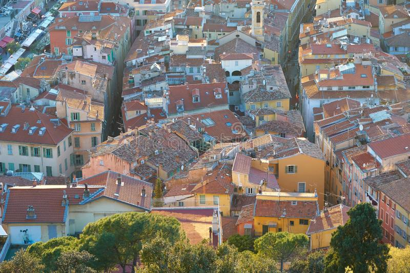Aerial view of Nice stock photography