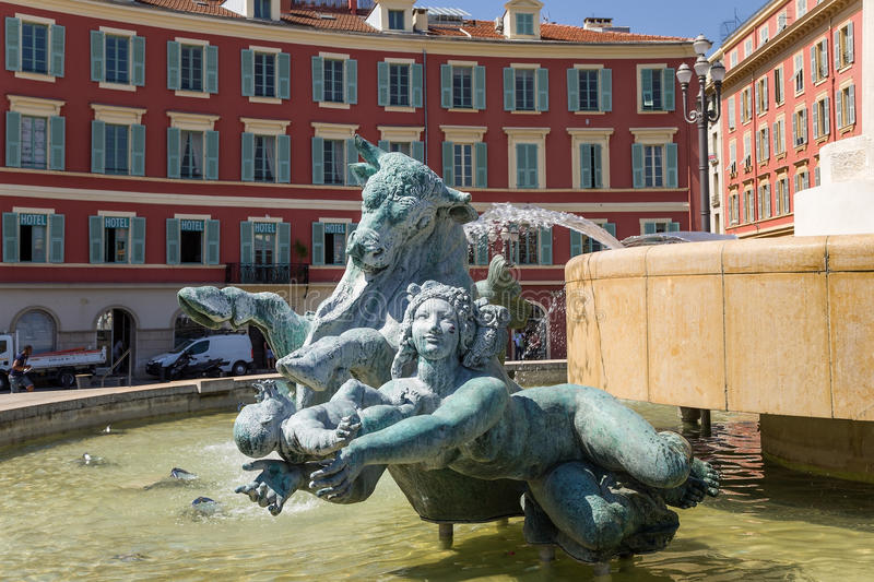 Nice, France. Fountain The Sun royalty free stock images