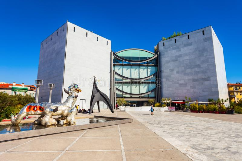 Modern Contemporary Art Museum, Nice royalty free stock photos