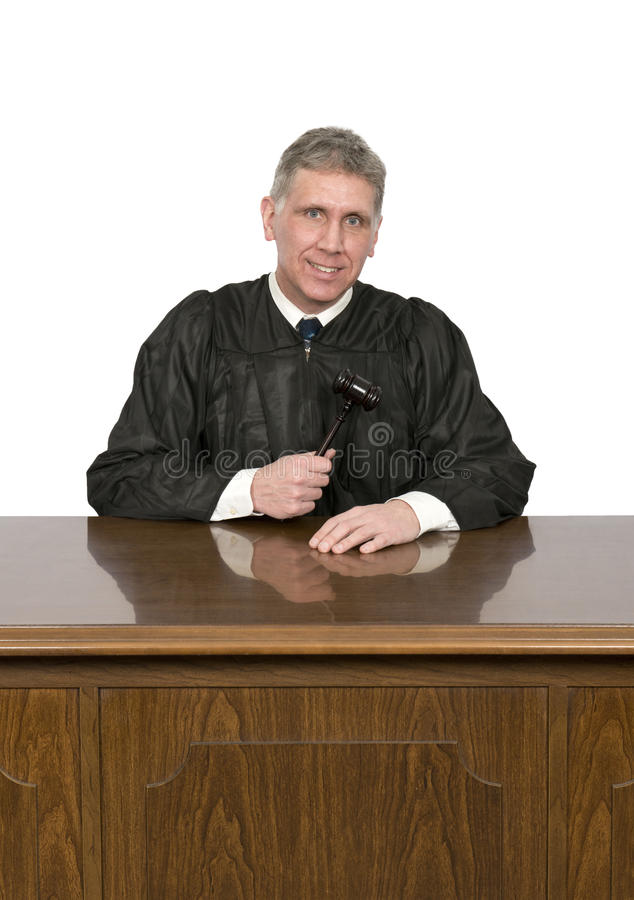 Nice Friendly Law Judge with Smile Isolated stock image