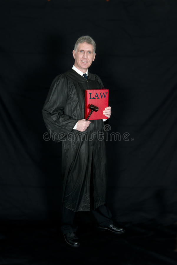 Nice Friendly Law Judge Smile royalty free stock images