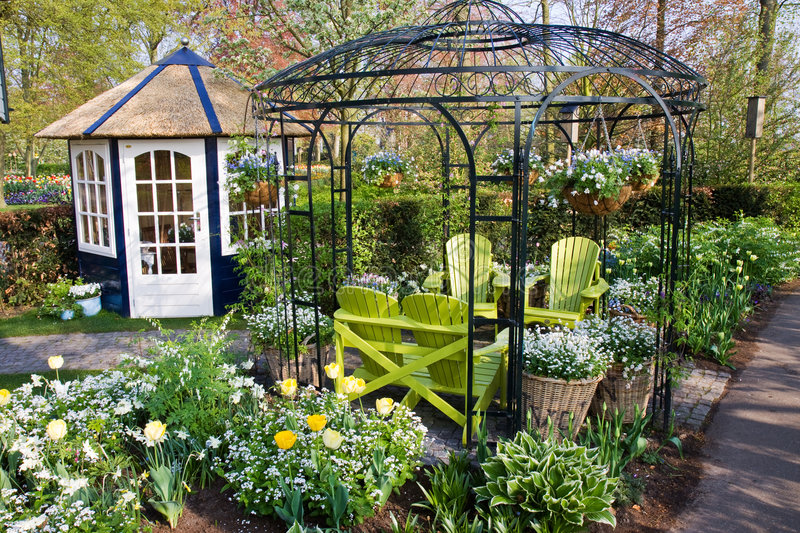 Download Nice Garden House With Chairs Royalty Free Stock Photos - Image: 9103468
