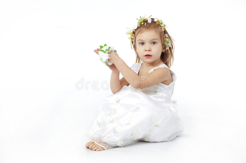 Download Nice Girl In Flower Dress Stock Photo - Image: 8252980