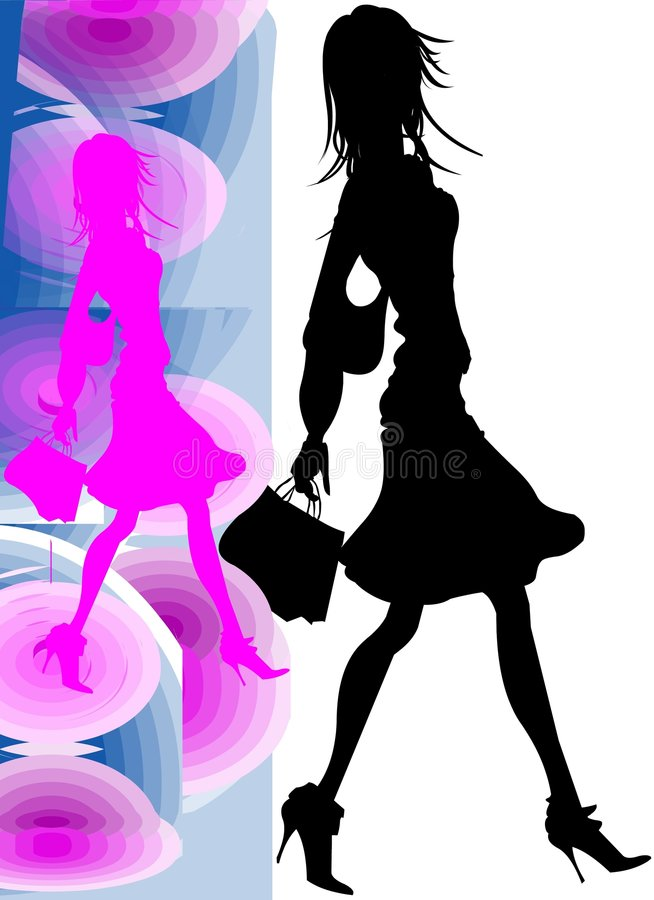 Download Nice Girl Going To Shopping Stock Illustration - Illustration: 4797031