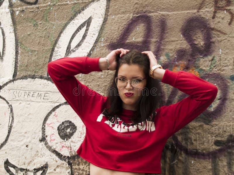 Nice girl posing stock images