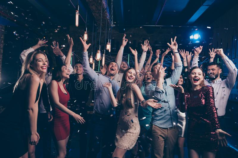 Nice gorgeous attractive glamorous elegant chic trendy stylish cheerful glad positive girls and guys having fun free stock photography