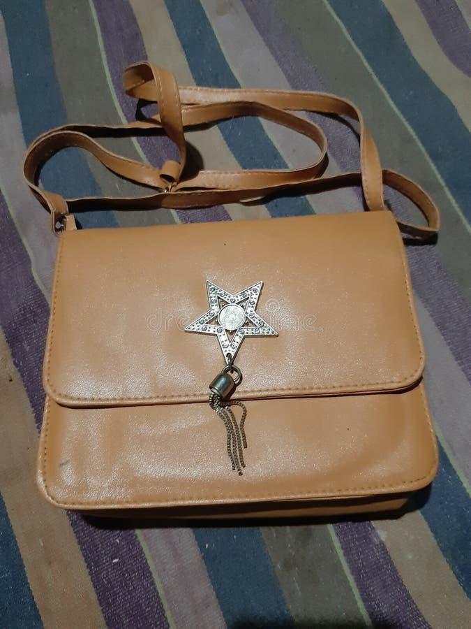 Nice hand bag with star. Nice hand bag with stock photography