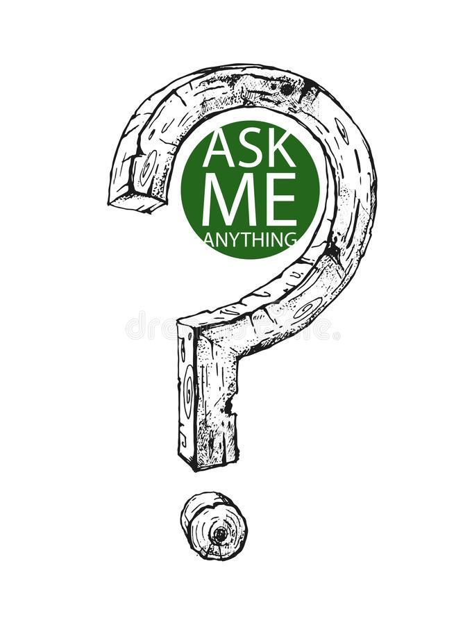 Nice hand drawn question mark. Original element. royalty free stock photography