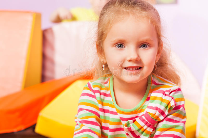 Nice happy smiling portrait of a girl stock photography
