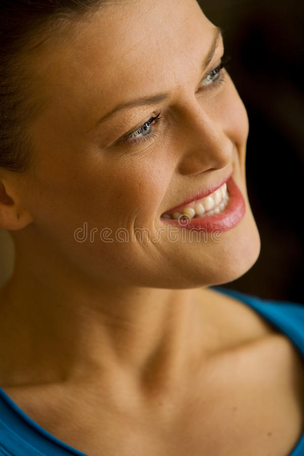 Nice happy woman stock images