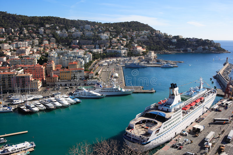 Nice harbor view royalty free stock image