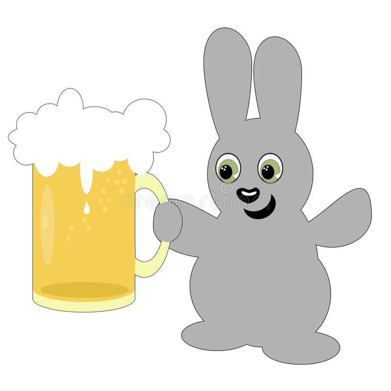 Download Nice Hare With Beer Mug Stock Image - Image: 22599971