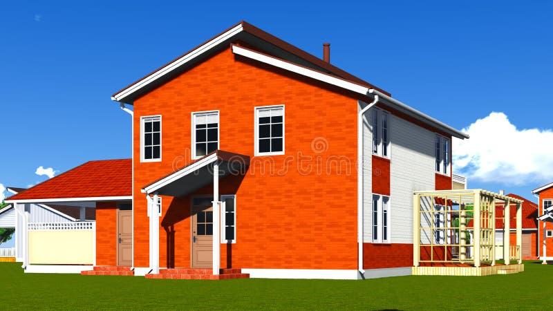 Nice Homes In Neighborhood Stock Images