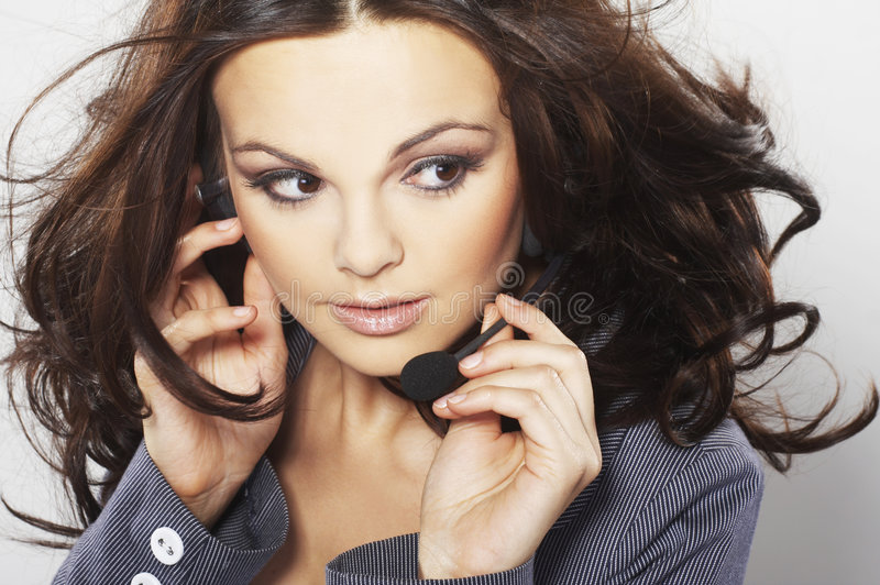 Download Nice hotline operator stock photo. Image of consultant - 7519766