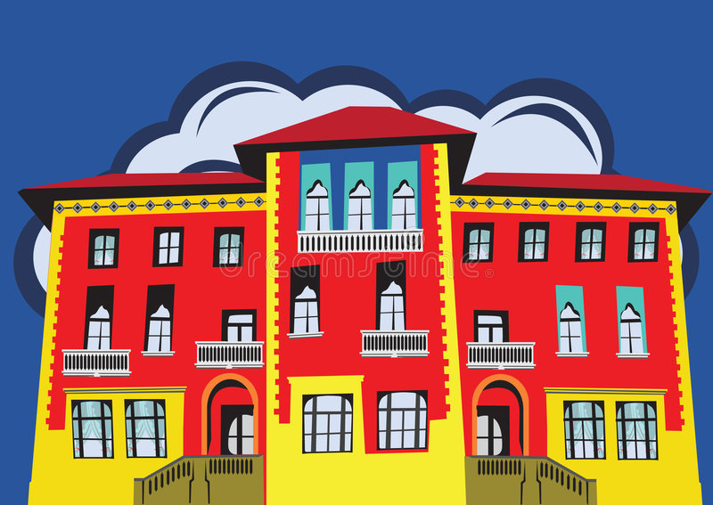 A nice house stock illustration
