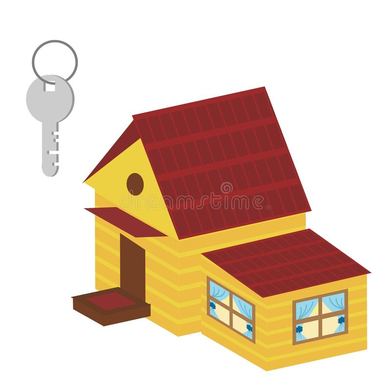 Download Nice house and key stock illustration. Image of countryside - 18115009