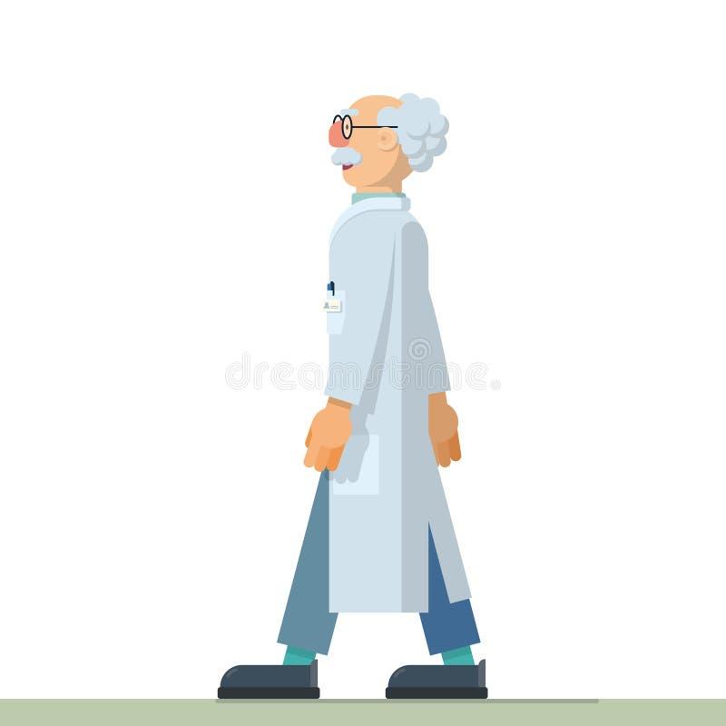 Nice illustration of inventor scientist. Cute vector illustration of scientist inventor in flat style design vector illustration