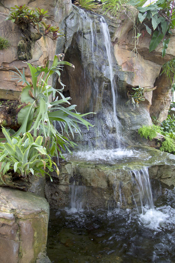 Download Nice Indoor Garden With Waterfall Design Stock Photo - Image:  64676262