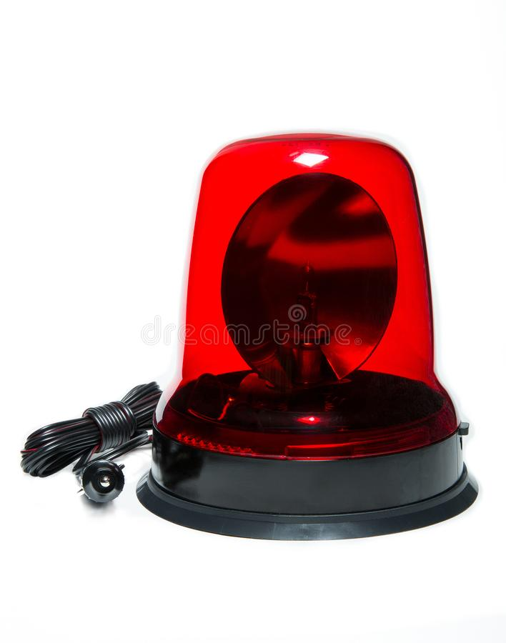 Isolated car beacon. Nice isolated car beacon for special transport stock images