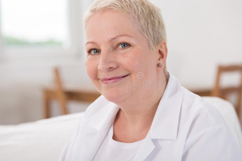 Nice and kind nurse. Nurse is nice and kind for her patients stock photo