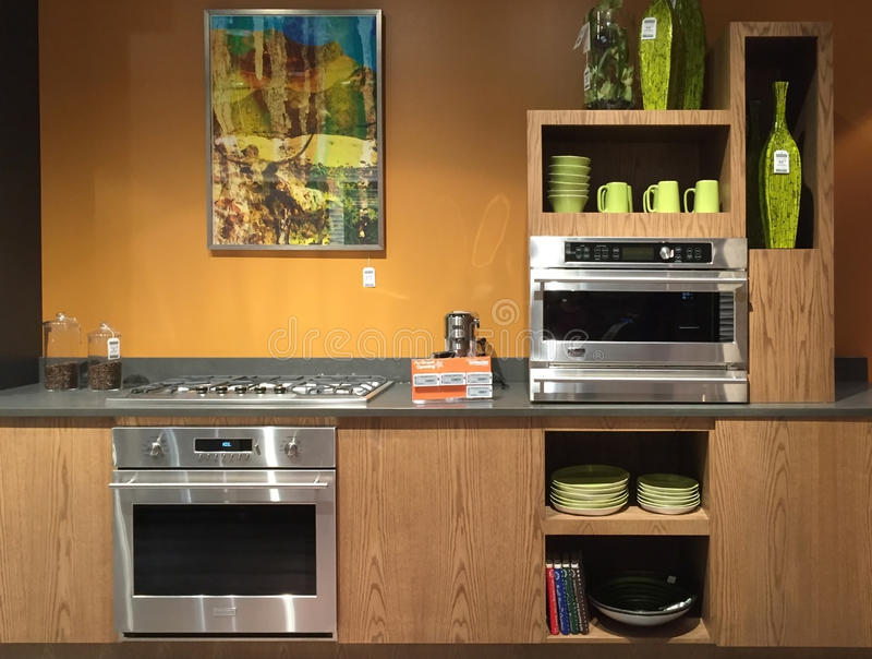 Nice kitchen design stock image