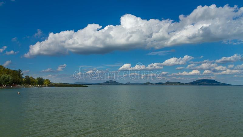 Nice landscape from Hungary, lake Balaton stock image