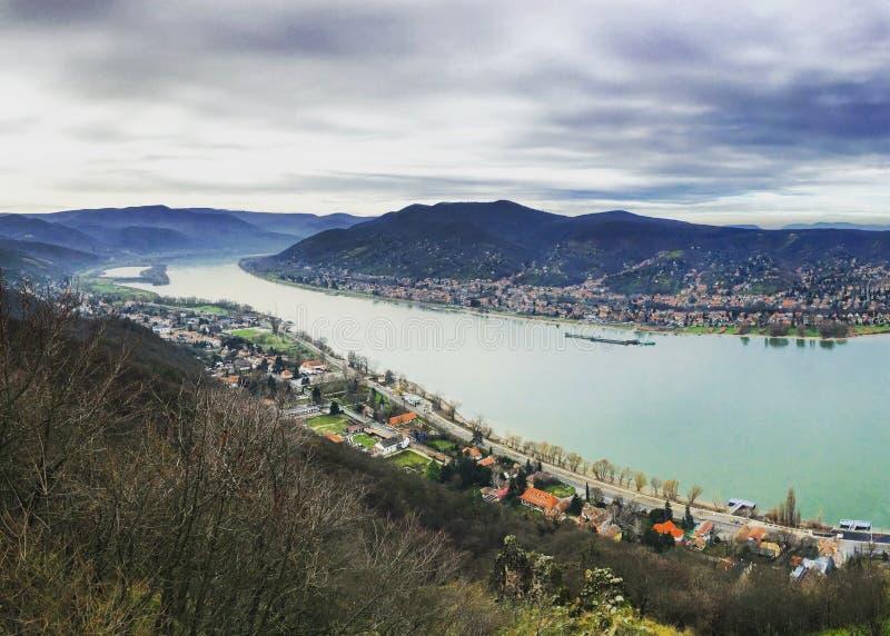 Nice landscape in Visegrád, Hungary royalty free stock photos