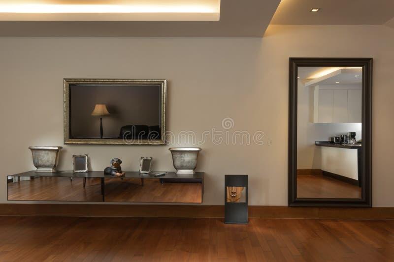 Of nice light living room decoration. stock photos