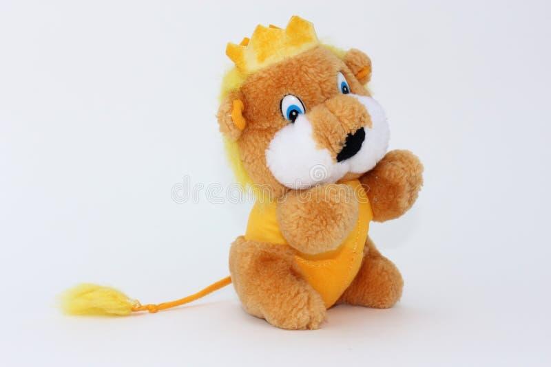 Nice lion toy of plush stock photo