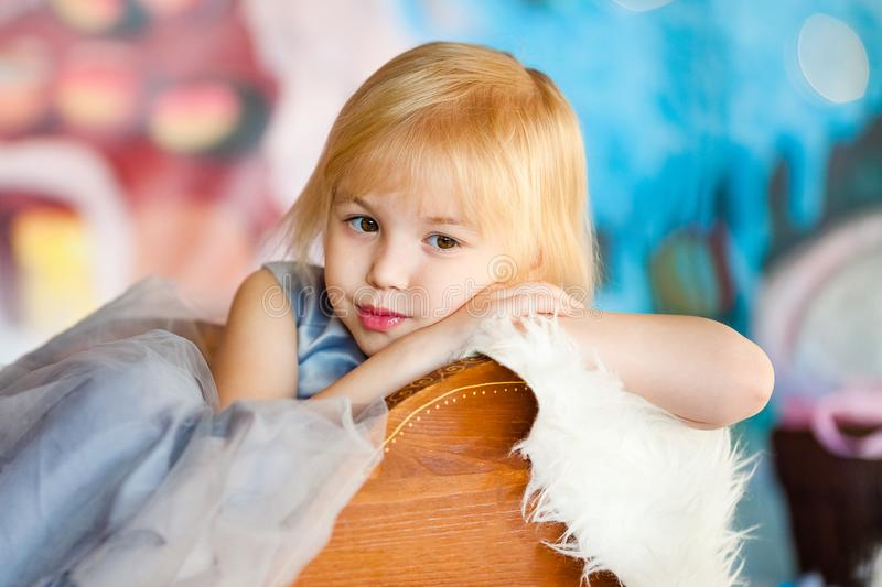 Blonde sad little girl stock photo. Image of looking, expressing - 2614808