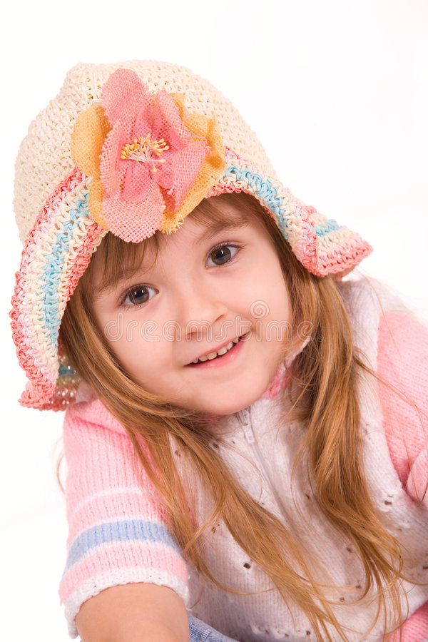 Download Nice Little Girl Portrait On White Stock Photo - Image: 4336138