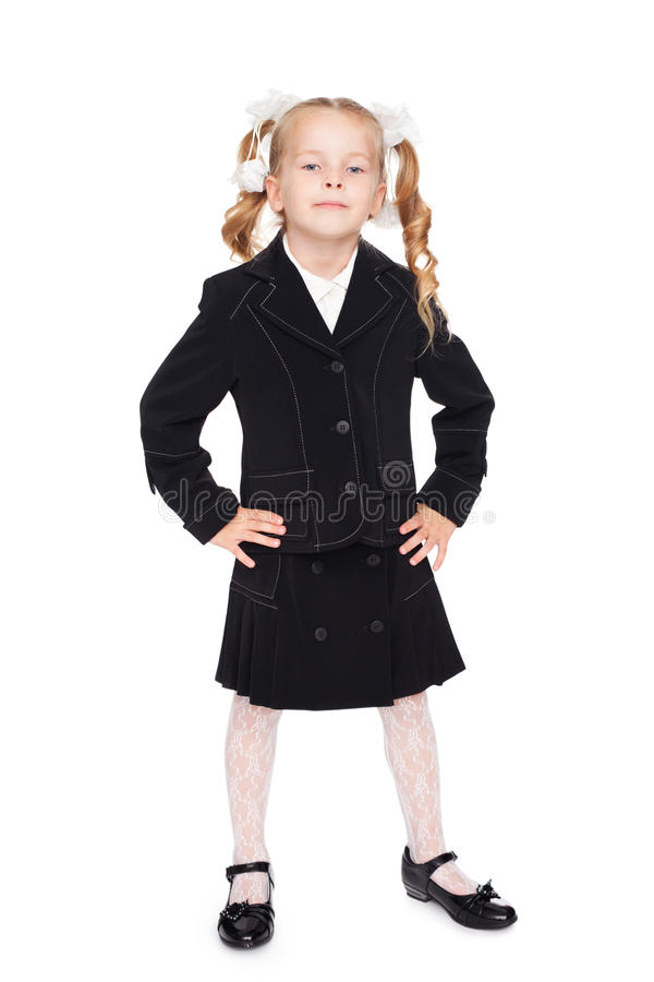 Download Nice Little Girl In A School Uniform Stock Photo - Image: 20736834
