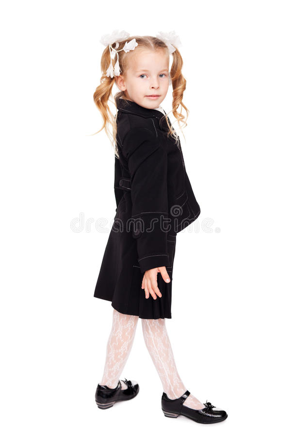 Download Nice Little Girl In A School Uniform Stock Image - Image: 20738623