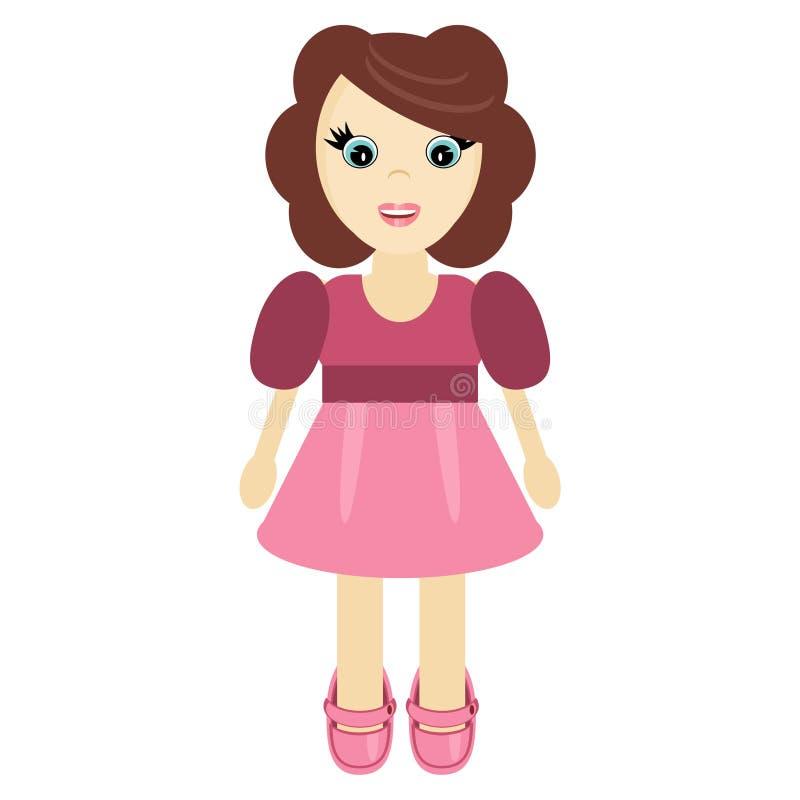 Download Nice little girl on white stock illustration. Illustration of color - 22553489