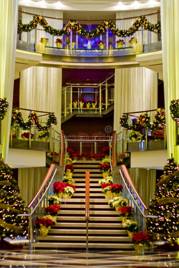 Download Nice Lobby at Christmas stock image. Image of festive - 8357771