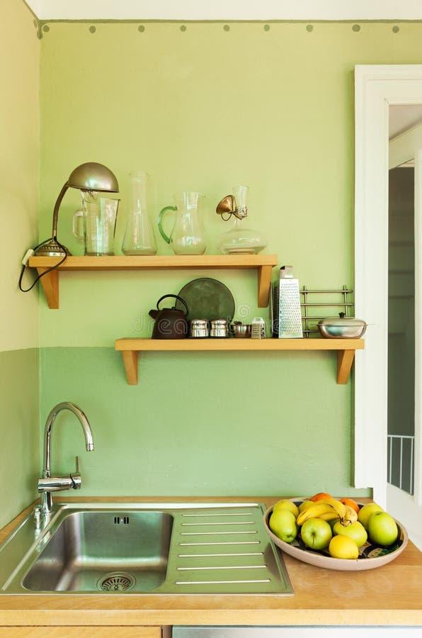 Nice loft, kitchen royalty free stock image