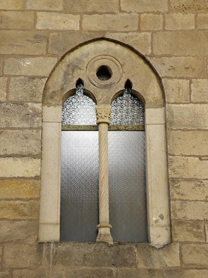 Gothic Castle Window. Nice Medieval Gothic Castle Window stock images