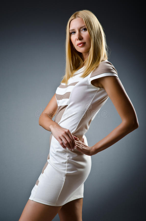 Download Nice model in studio stock image. Image of girl, clothing - 26373649