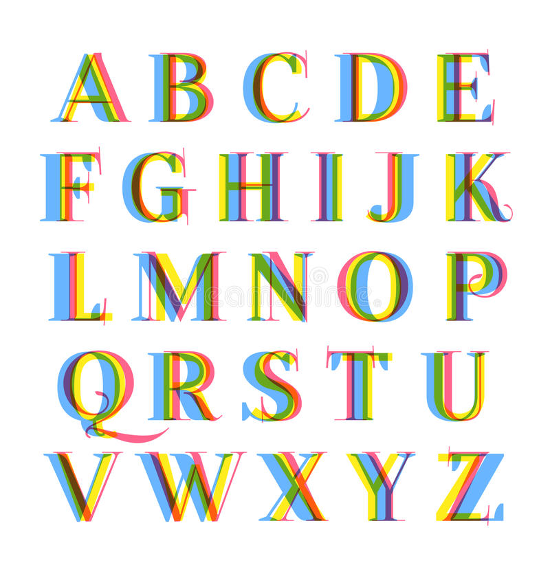 Download Nice Modern Colorful Alphabet Set Stock Vector - Image: 37945114