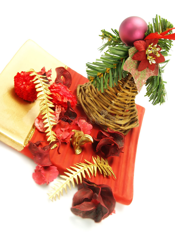 Nice Multicolored Christmas Decoration Stock Photography