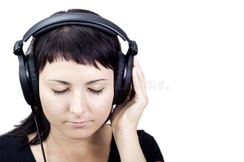 Download Nice Music. Woman Enjoying Music. Stock Image - Image: 34018449
