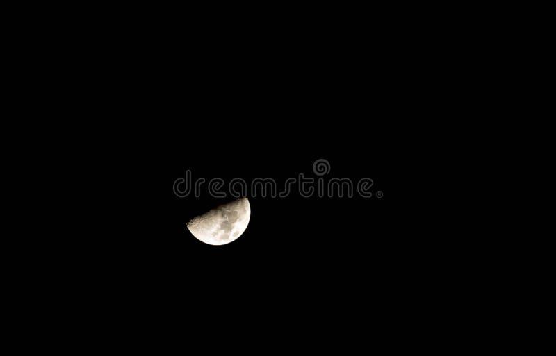 Nice mystical half moon stock photo