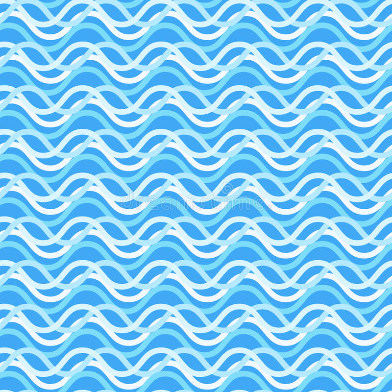 Nice naval bright colorful wavy seamless pattern stock illustration