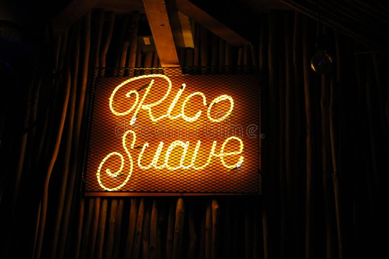 Nice neon in Cancun Mexico royalty free stock photography
