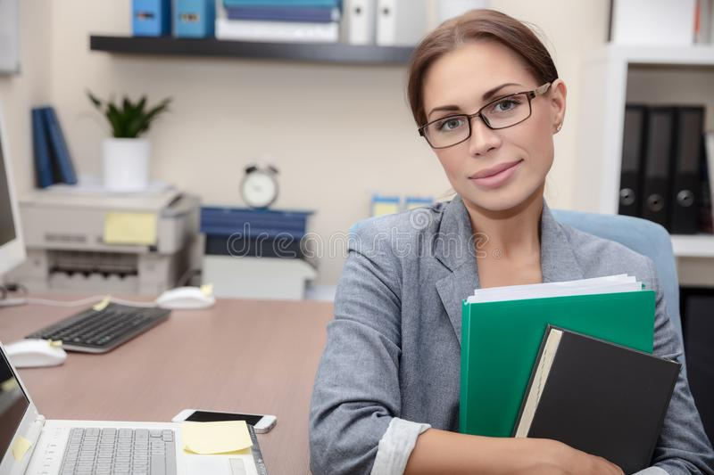 Nice office worker portrait royalty free stock photos
